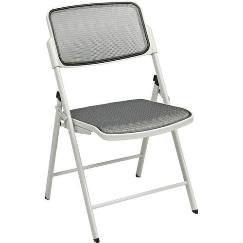 Pro-Line II Deluxe ProGrid® Mesh Seat and Back Folding Chair with 400 lb Weight Capacity - Set of 2