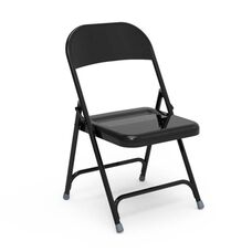 Quick Ship Multi-Purpose Steel Folding Chair with Black Finish - 17.75