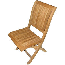 Alice Sturdy Natural Unfinished Stackable Teak Folding Chair