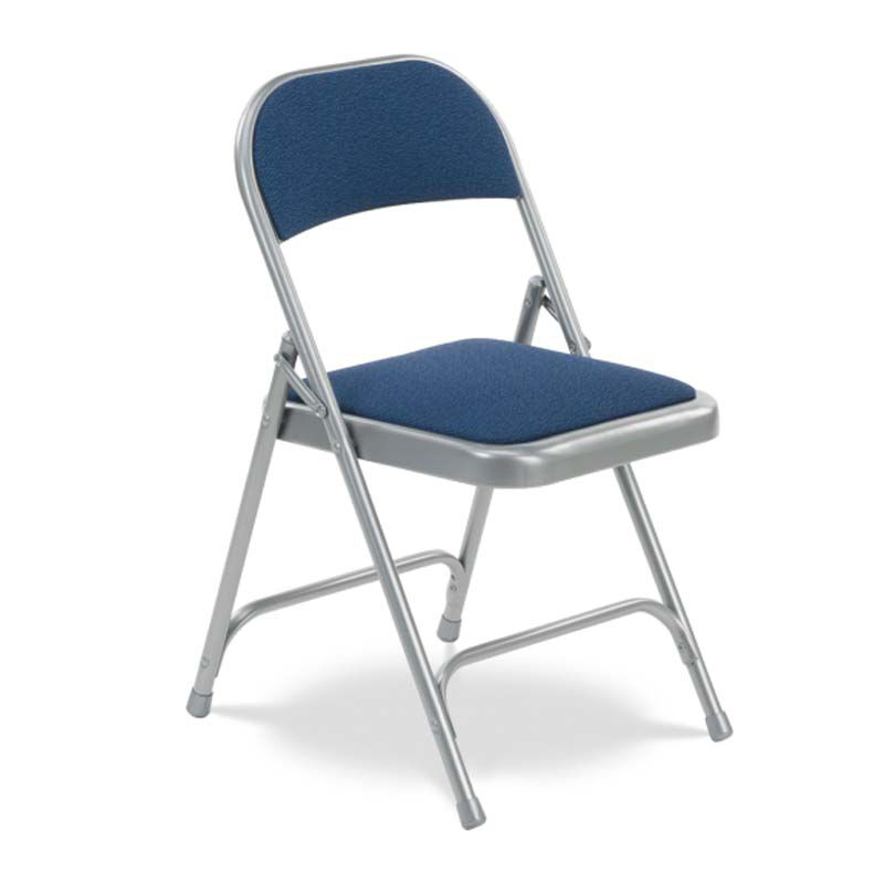 ... Our Quick Ship Multi Purpose Steel Folding Chair With Sedona Sailor  Fabric Pads And Silver