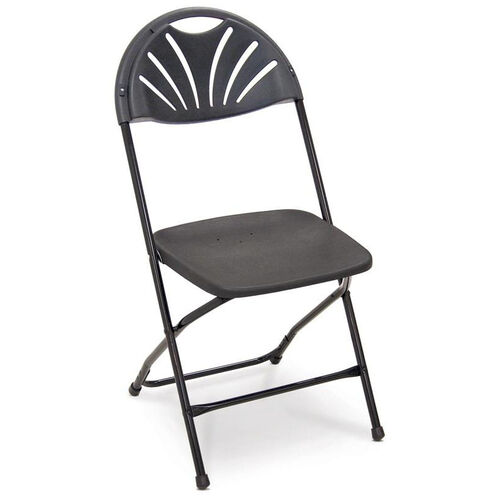 Series 5 Steel Frame Stackable Fanback Folding Chair with Polypropylene Seat and Back