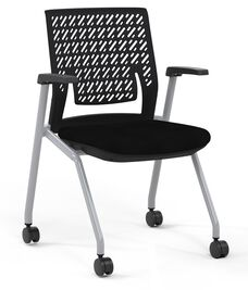 Thesis™ Flex Back Arm Chair with Fabric Seat - Set of 2 - Black