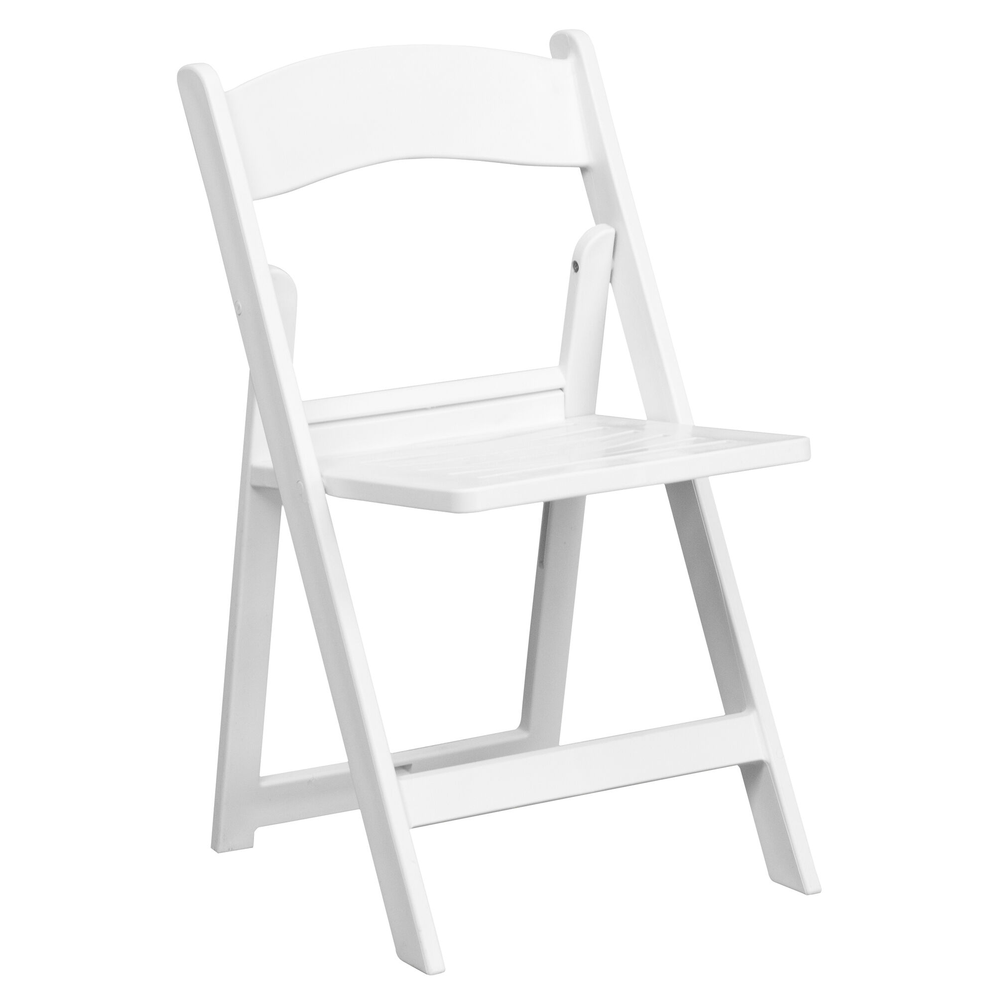 Remarkable Hercules Series 1000 Lb Capacity White Resin Folding Chair With Slatted Seat Creativecarmelina Interior Chair Design Creativecarmelinacom