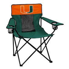 University of Miami Team Logo Elite Folding Chair