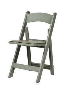 1000 lb. Max Flint Gray Resin Folding Chair