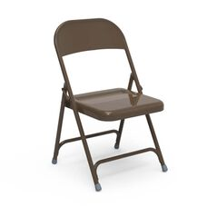 Quick Ship Multi-Purpose Steel Folding Chair with Mocha Finish - 17.75