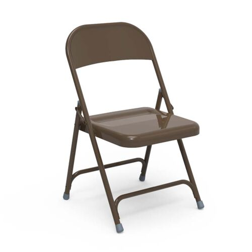 Our Quick Ship Multi-Purpose Steel Folding Chair with Mocha Finish - 17.75