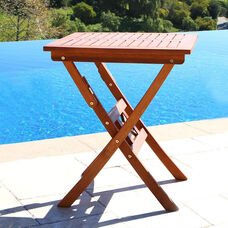 Malibu Outdoor Wood Square Folding Bistro Table
