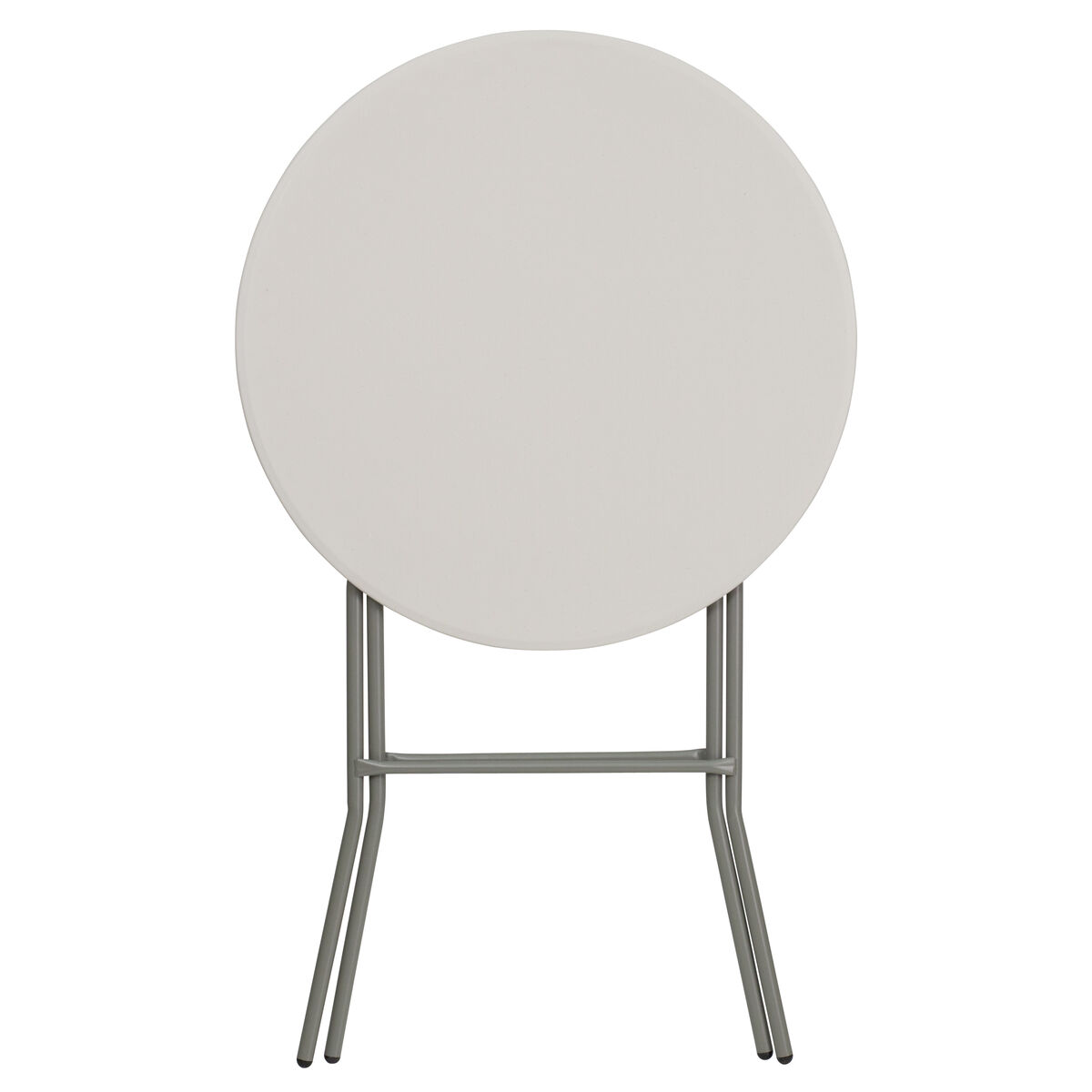 Our 32 Round Granite White Plastic Bar Height Folding Table Is On Now