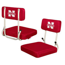 University of Nebraska Team Logo Hard Back Stadium Seat