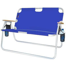 Tailgater Two Person Folding Aluminum Chair - Royal Blue