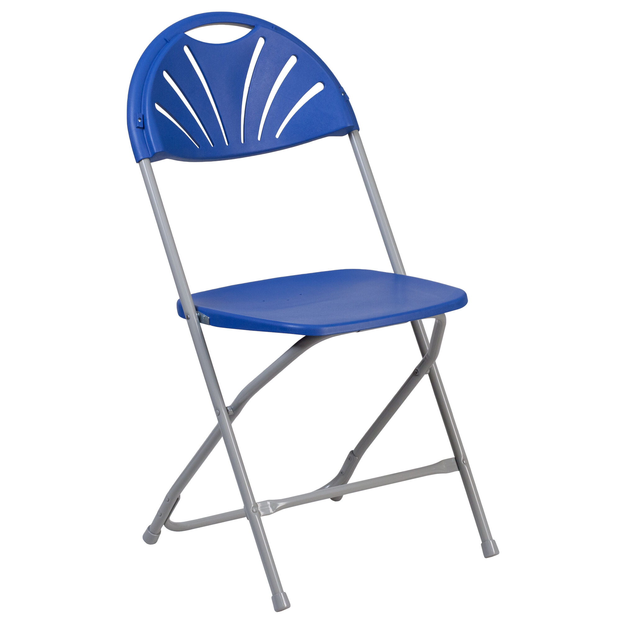 Excellent Hercules Series 650 Lb Capacity Blue Plastic Fan Back Folding Chair Ocoug Best Dining Table And Chair Ideas Images Ocougorg