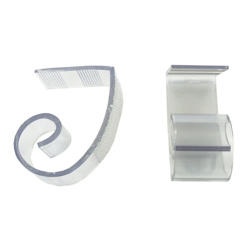 """Our Polycarbonate """"JV"""" Skirting Clip for 1 1/2"""" to 2"""" Edge Tables - 100 Per Pack is on sale now."""