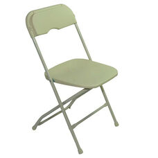 Champ Series Versatile Resin Wedding Folding Chair with Foot Caps - Beige