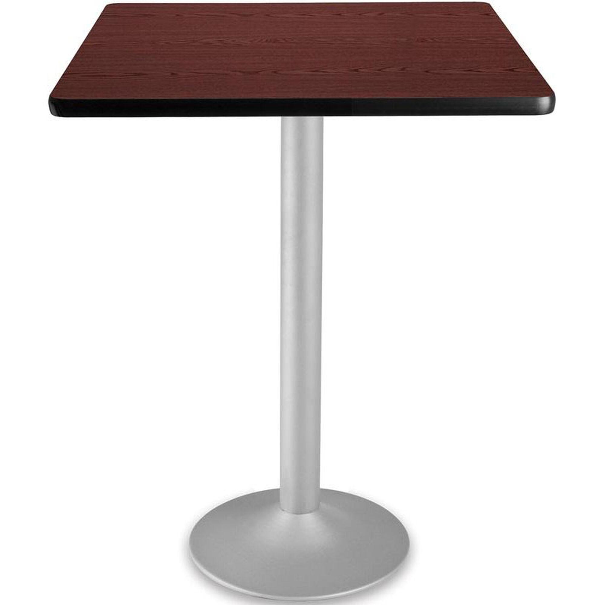 Ofm 30 39 39 Square Folding Cafe Table Mahogany Cft30sq Mhgy