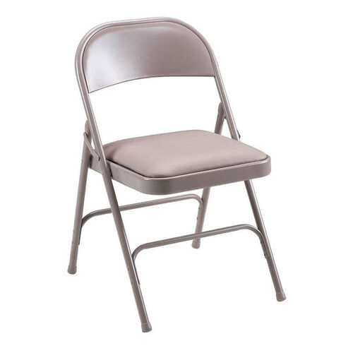 Our Lorell 500 lb. Capacity Beige Steel Folding Chair with Padded Seats - Set of 4 is on sale now.