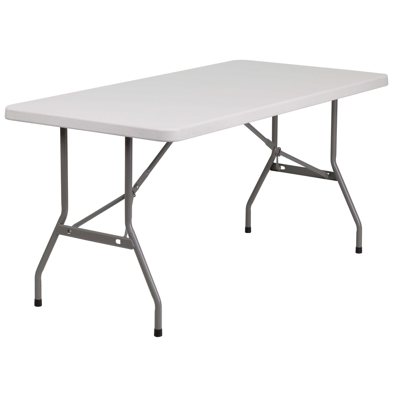 - 30x60 White Plastic Fold Table RB-3060-GG FoldingChairs4Less.com