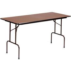 Counter Height Rectangular Melamine Top Folding Work Table - 72