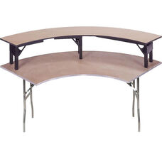 Standard Series Crescent Riser with Plywood Top - 15