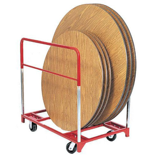 Our Steel Frame Round Folding Table Mover with 6
