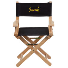 Embroidered Kid Size Directors Chair in Black