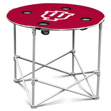 Indiana University Team Logo Round Folding Table