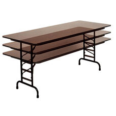 Adjustable Height Solid Plywood Core Rectangular Folding Table - 36