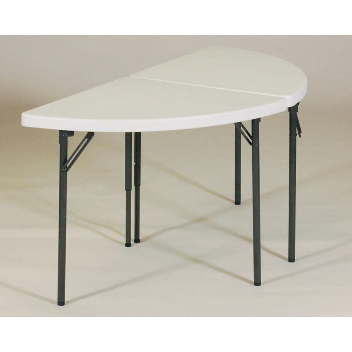 plastic top half moon table half moon 23. Black Bedroom Furniture Sets. Home Design Ideas