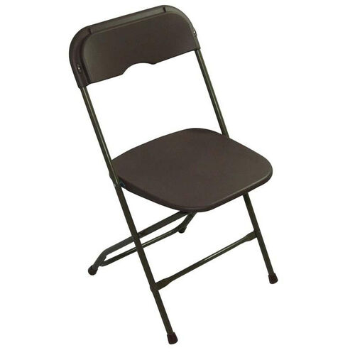 Our Champ Series Versatile Resin Wedding Folding Chair with Foot Caps - Dark Brown is on sale now.