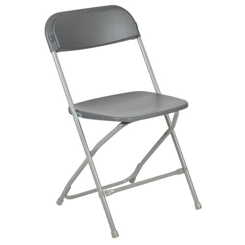 HERCULES Series 800 lb. Capacity Premium Grey Plastic Folding Chair