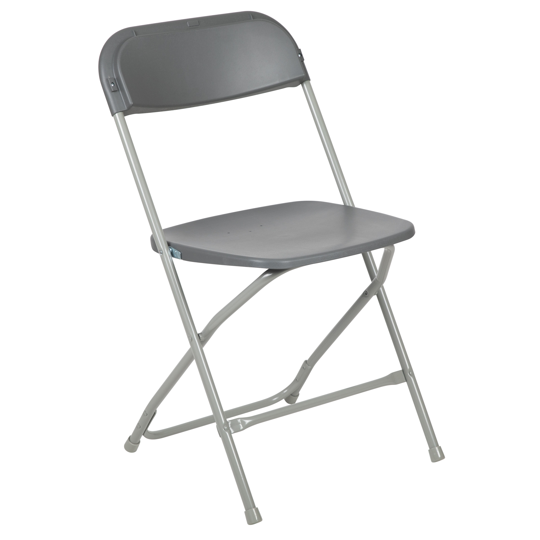 Capacity Premium Grey Plastic Folding Chair