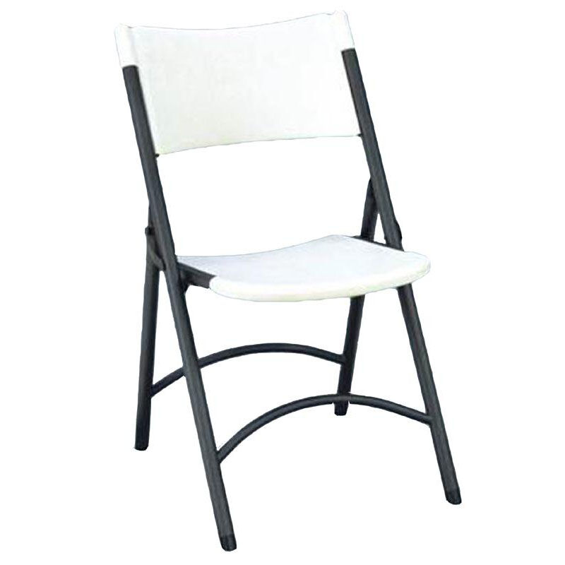 Great ... Our Armless Plastic Folding Chair With Charcoal Steel Frame   Gray  Granite Seat And Back Is