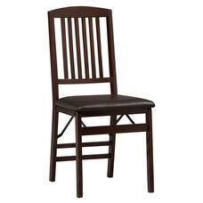 Triena Mission Back Folding Chair - Set of 2