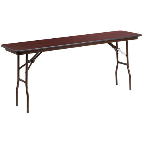 Our 6-Foot Mahogany Melamine Laminate Folding Training Table is on sale now.