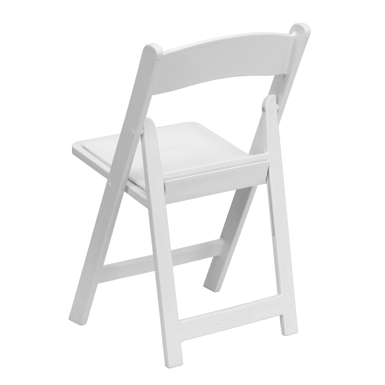 Marvelous Images. HERCULES Series 1000 Lb. Capacity White Resin Folding Chair ...