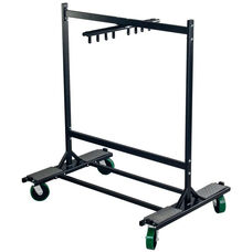 Stage and Riser Truck with Four Heavy Duty Casters and Welded Steel Iron Construction - 30