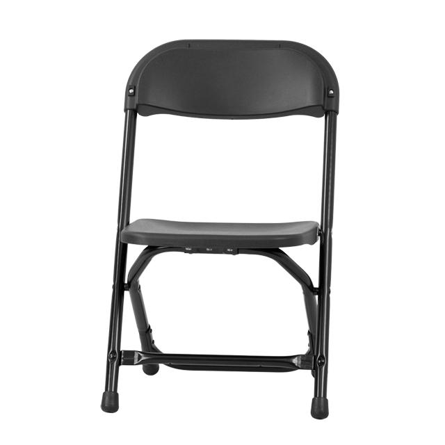 Flash Furniture Kids Black Plastic Folding Chair Y KID BK GG |  FoldingChairs4Less.com